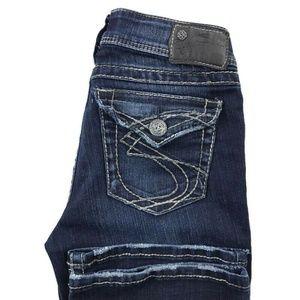 Silver Suki Surplus Bootcut Dark Wash Jeans